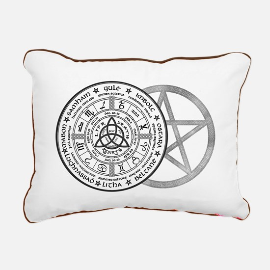 Year Wheel Rectangular Canvas Pillow