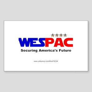 """WesPAC Charter Member"" Rectangle Sticker"