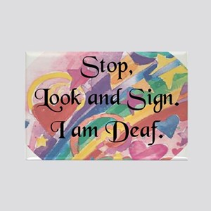 Stop Look-rnd Rectangle Magnet
