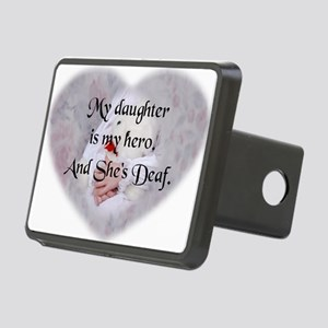 Daughter Hero Heart Rectangular Hitch Cover