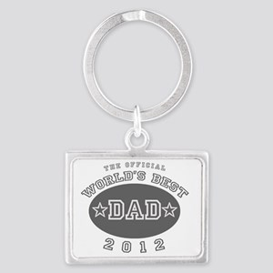 The Official Worlds Best Dad 20 Landscape Keychain