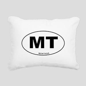 Montana State Rectangular Canvas Pillow