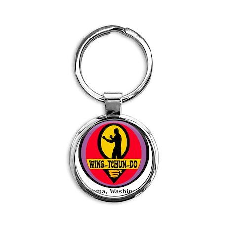 WTD Black Round Keychain