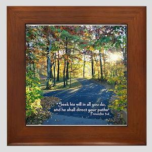 Direct your paths... Framed Tile