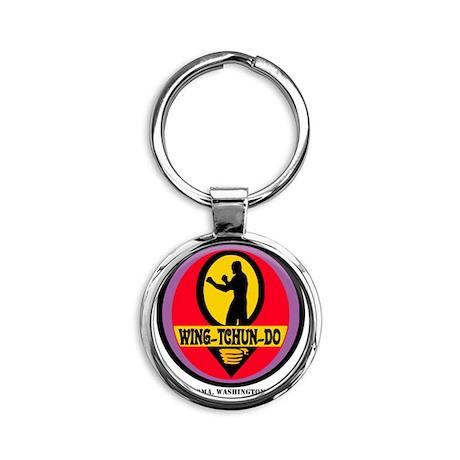 WTD BLK Round Keychain