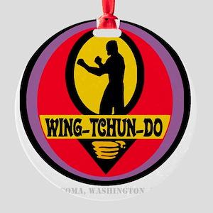 WTD WHT Round Ornament