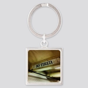 42nd Street Subway Sign Square Keychain