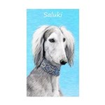 Saluki (Silver and White Sticker (Rectangle 50 pk)