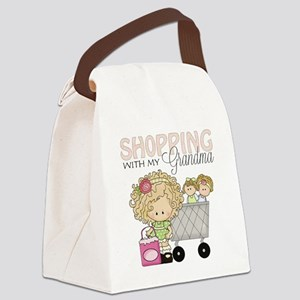 Shopping with Grandma Canvas Lunch Bag