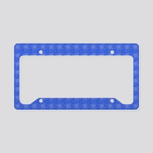 Stylish Blue Pattern License Plate Holder