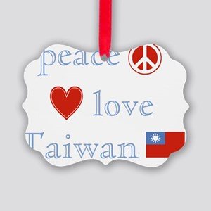 PeaceLoveTaiwan Picture Ornament