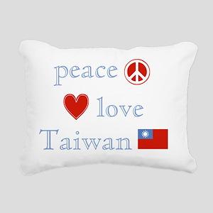 PeaceLoveTaiwan Rectangular Canvas Pillow
