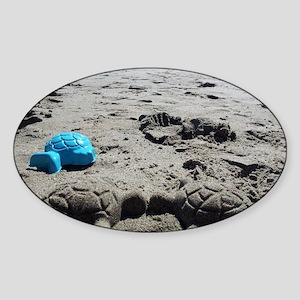 Turtle love Sticker (Oval)