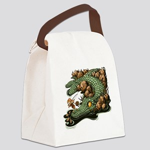 Gone Fishin Canvas Lunch Bag