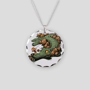 Gone Fishin Necklace Circle Charm