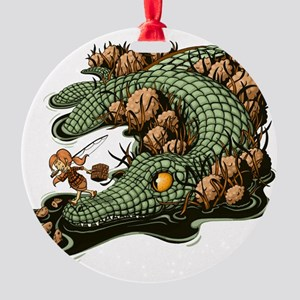 Gone Fishin Round Ornament