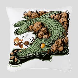 Gone Fishin Woven Throw Pillow