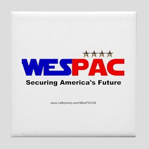 """WesPAC"" Tile Coaster"