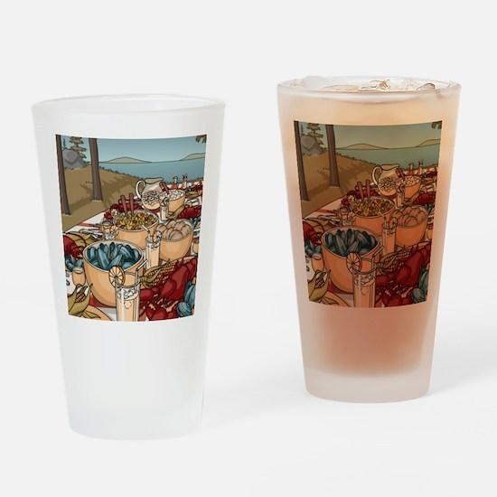 Maine Feast Drinking Glass