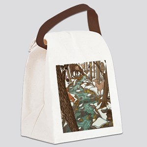 Maine Wildlife Canvas Lunch Bag