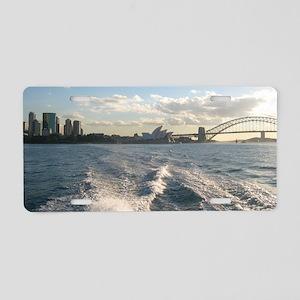 Sydney Harbour Waves Aluminum License Plate
