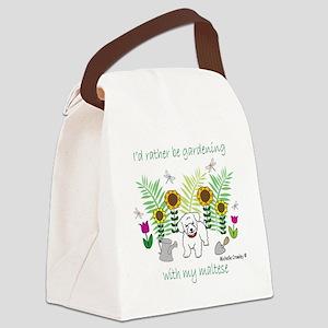 maltese Canvas Lunch Bag