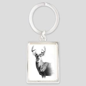 Whitetail Portrait Keychain