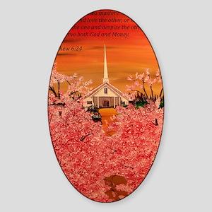 Matthew 6:24 Sticker (Oval)