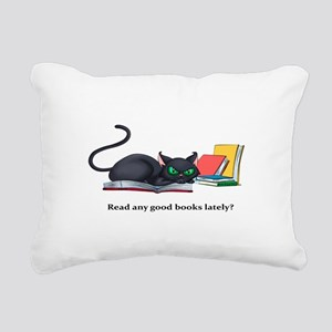 Read any good books late Rectangular Canvas Pillow