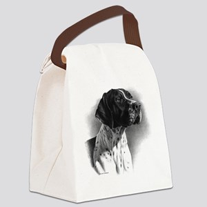 German Short Hair Canvas Lunch Bag