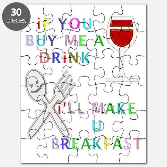 Unisex singles clubbers summer fun Puzzle