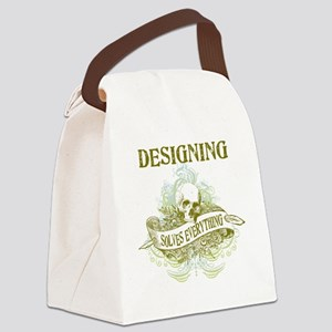 Designing Solves Everything Canvas Lunch Bag