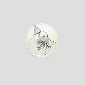 Party Walrus Mini Button