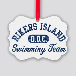 Rikers Island Swimming Team Picture Ornament