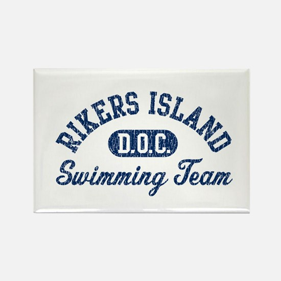 Rikers Island Swimming Team Rectangle Magnet