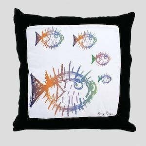 Pufferfish Puffer Fishes Throw Pillow
