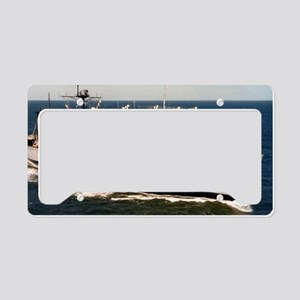 uss nitro framed panel print License Plate Holder