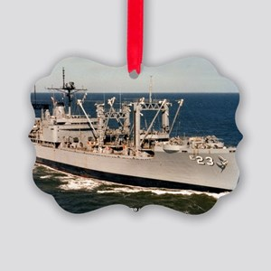 uss nitro large framed print Picture Ornament