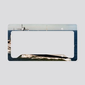 uss nitro large framed print License Plate Holder