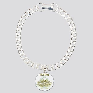 Flying Solves Everything Charm Bracelet, One Charm
