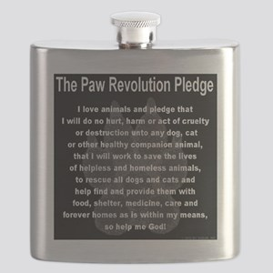 The Paw Revolution Pledge Flask