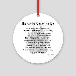 The Paw Revolution Pledge Round Ornament