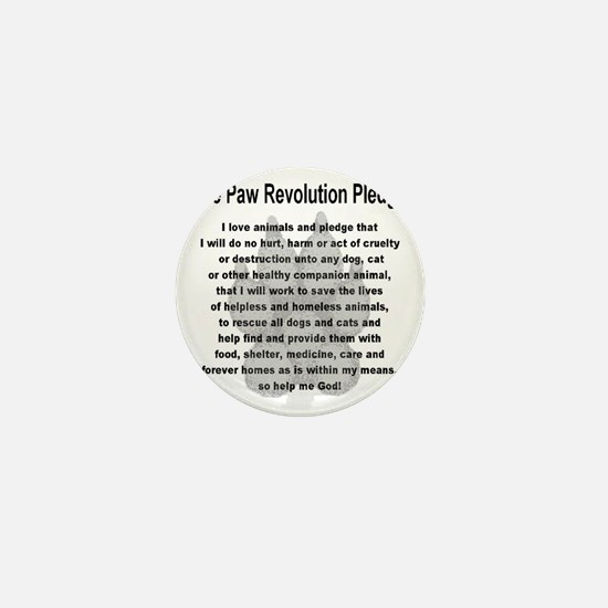 The Paw Revolution Pledge Mini Button