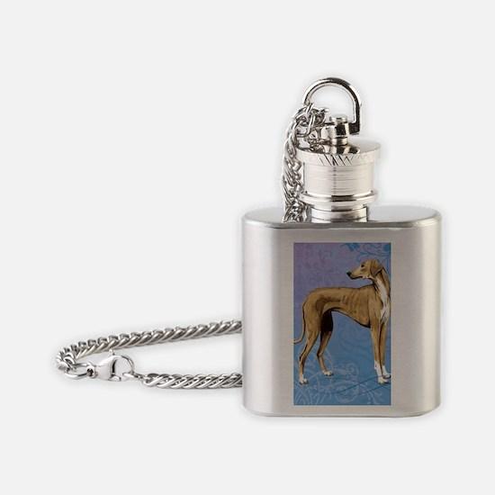 azawakh-key back1 Flask Necklace