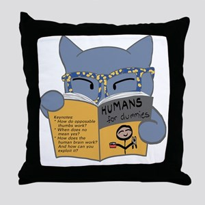 Humans for Dummies Throw Pillow