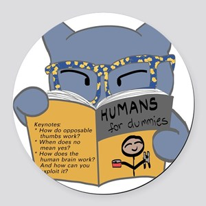 Humans for Dummies Round Car Magnet