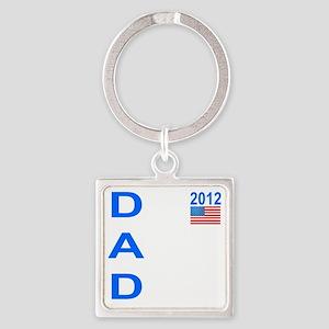 Dad 2012: Square Keychain