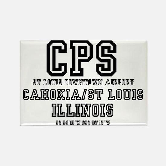 AIRPORT JETPORT  CODES - CPS - CA Rectangle Magnet