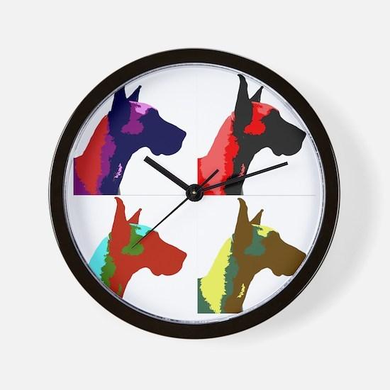 Great Dane a la Warhol Wall Clock