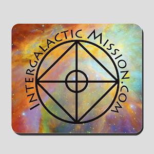 IntergalacticMission.com square color lo Mousepad